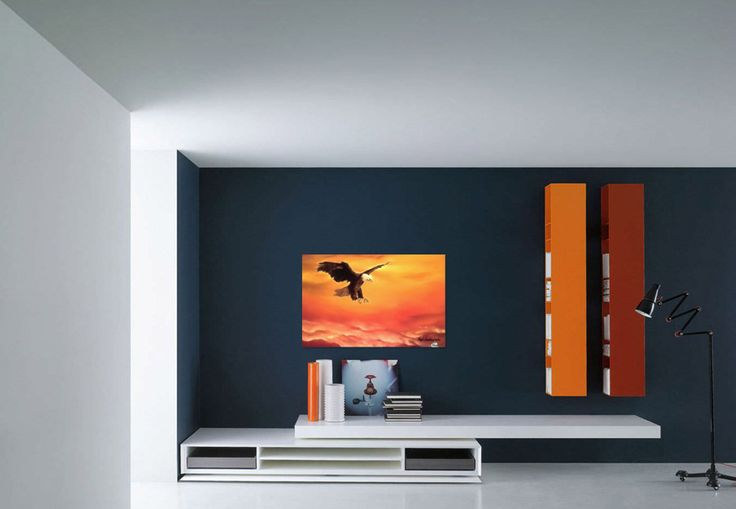 Wall decor, fine art, oil painting, canvas print, for sale, orange, bald, eagle, wild, bird, wildlife, sky