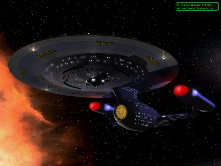 The Ambassador Class Enterprise C which appeared in Star Trek The Next Generation.