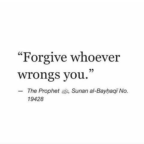 Even though it's hard but I forgive them. Don't hold grudge because it will consume you too. Instead let's pray hope that Allah will change their heart.