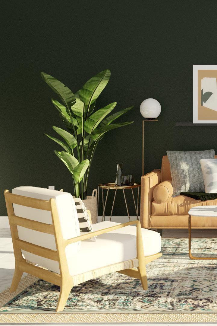 Dark Mid Century Living Rooms Online Interior Design Living Room Designs Mid Century Modern Living Room