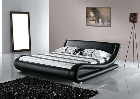 Bett - Ehebett - Lederbett 180 cm - Polsterbett - Doppelbett inkl. stabiler Lattenrost - AVIGNON