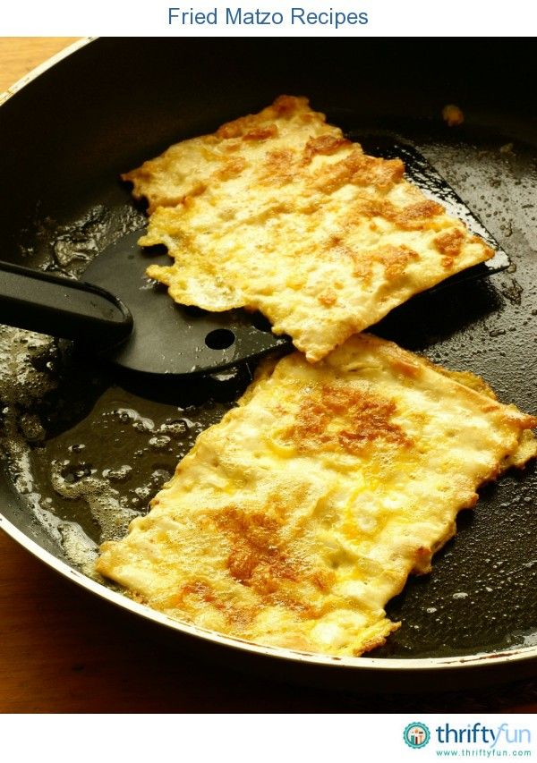 This guide contains fried matzo recipes. A traditional unleavened cracker bread that is great in a variety of recipes.