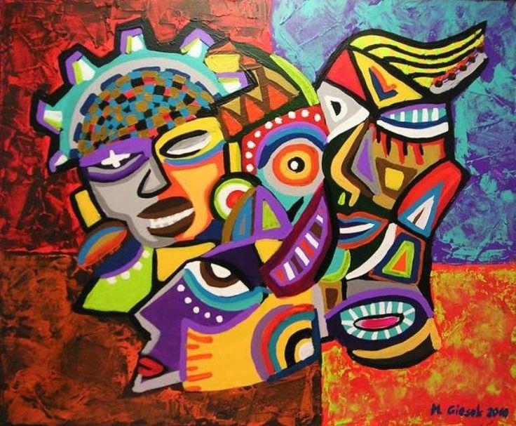 """Saatchi Art Artist Magdalena Giesek; Painting, """"CARNAVAL DE BARRANQUILLA"""" #art"""