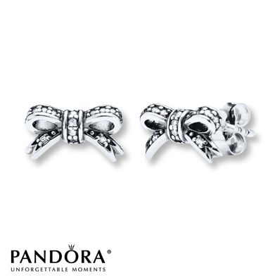 Pandora bow earrings.