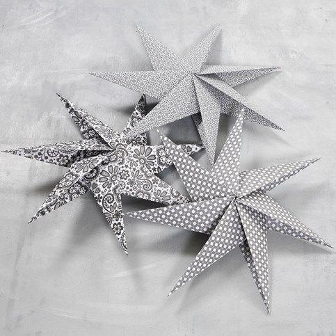 7-taggad stjärna av kvadratiska papper - instruktioner från cchobby.se