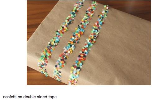 inpakken - confetti - dubbelzijdig plakband