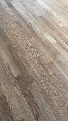 White Oak Hardwood Floors - Duraseal Weathered Oak Stain. See a video home tour of the new refinished floors + upcoming kitchen and family room renovation plans.