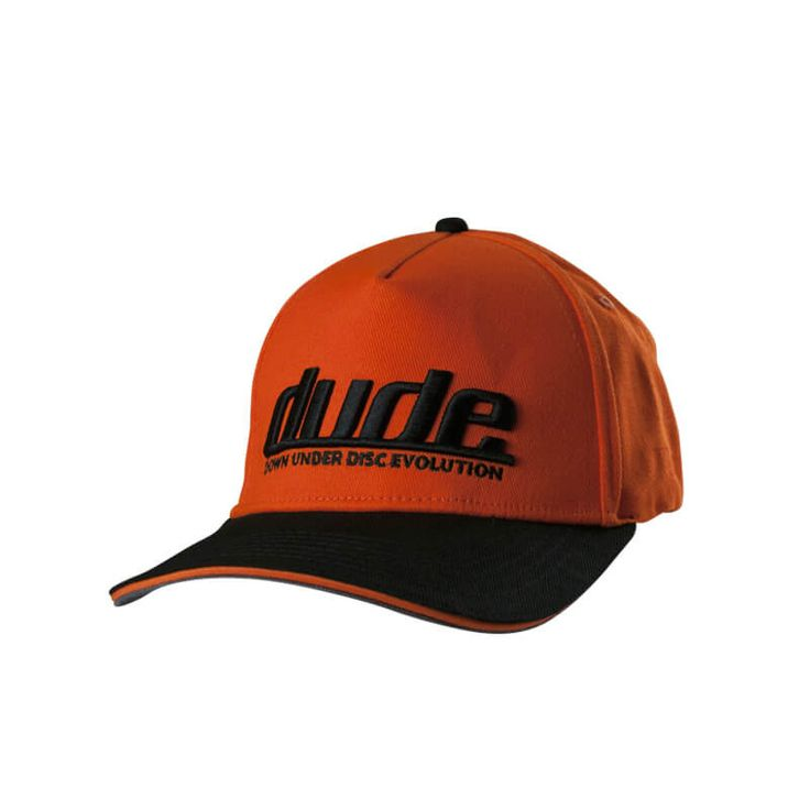 Disc Golf Apparel - Pro Cap  Wear your Dudeness with pride and proclaim it to the world with a Dude Pro Cap. With a permacurve brim, and a very stylish 3D Dude logo embroidery this will become your cap of choice for sure. Choose your color combination. For more details, visit https://www.dudeclothing.com/collections/accessories/products/dude-mens-pro-cap?variant=1172430096