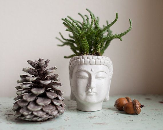 Small Buddha Head Planter  Buddha Head Planter 1 von brooklynglobal
