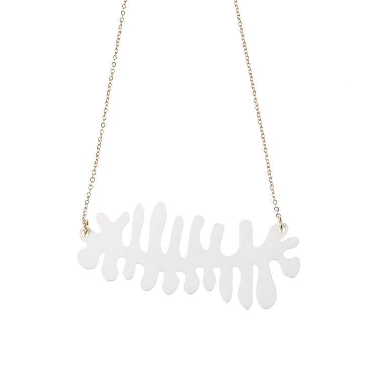 The fishbone necklace was inspired by one of Rose's favourite plants, the…