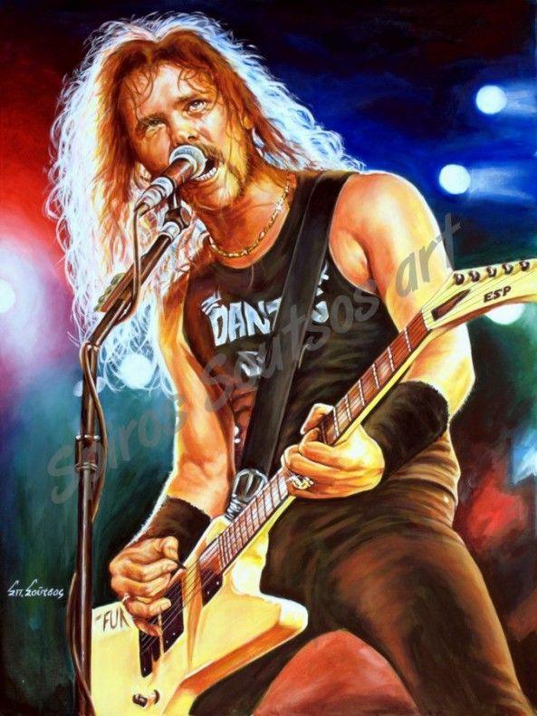 James Hetfield Live Rock Music Metallica Art James Hetfield Musician Art