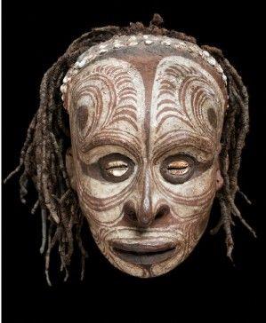 Nouvelle-guinée sepik masque tatouage