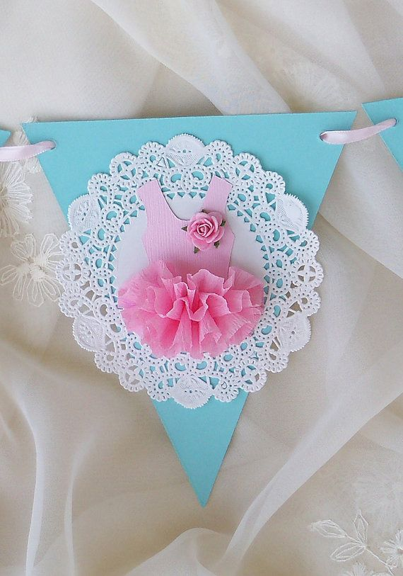 Ballerina Tutu Banner Birthday Decoration by JeanKnee on Etsy, $14.00