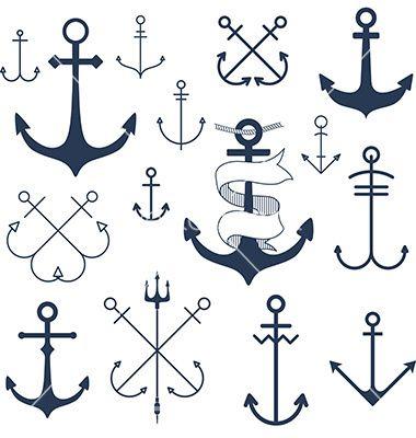 Set of anchors vector by Julia_Henze on VectorStock®