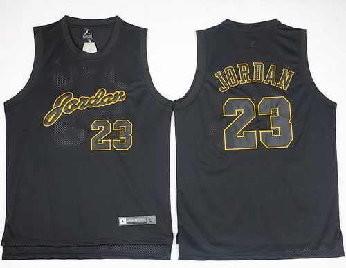 detailed look 17cd0 f7d5b Bulls #23 Michael Jordan Black(Gold No.) Anniversary ...