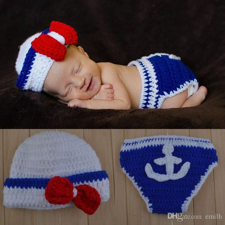 Newbron Infant Knitted Crochet Costume SAILOR Photo Photography Prop Baby Gift 150 Styles To Choose Newborn Outfit Infant Costume Bird Online with $5.93/Set on Emilh's Store | DHgate.com