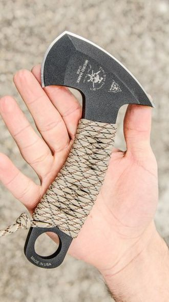 Need the crap out of this.  TOPS Knives Micro Hawk Compact 6.9 Axe DefenseSurvival Tool