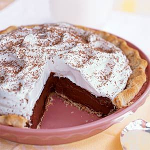 Chocolate Silk Pie. 342 calories (hey, it's better than 600!)  The trick is to just eat 1 serving.
