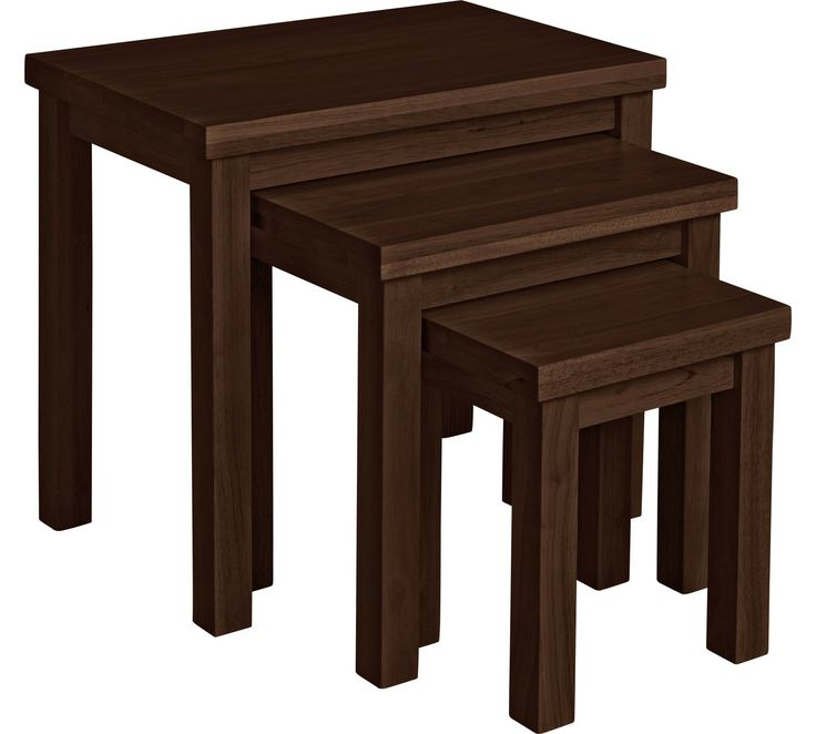Buy HOME Gloucester Nest of 3 Solid Wood Tables - Walnut Effect at Argos.co.uk, visit Argos.co.uk to shop online for Coffee tables, side tables and nest of tables, Living room furniture, Home and garden