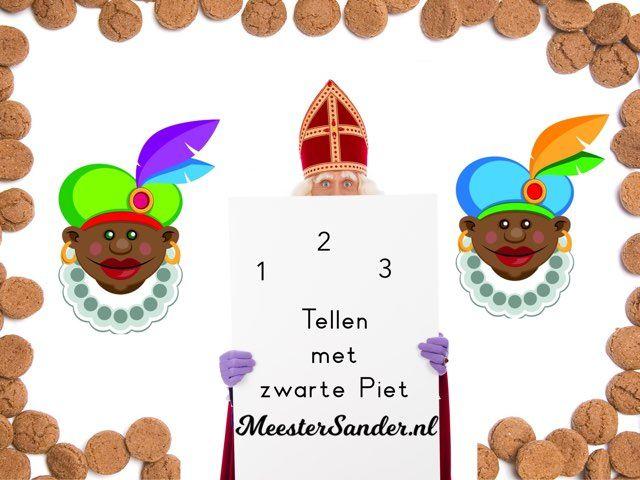 Leer tellen en de cijfers herkennen met zwarte piet. In dit spel leren de kinderen tellen tot en met 12.