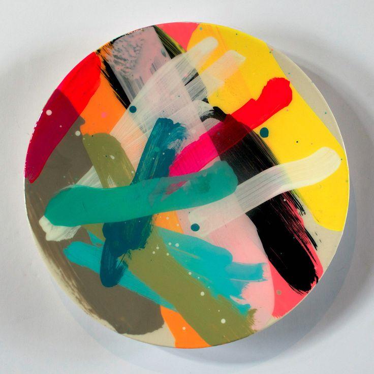 martinich an dcarran, contemporary paint on plates