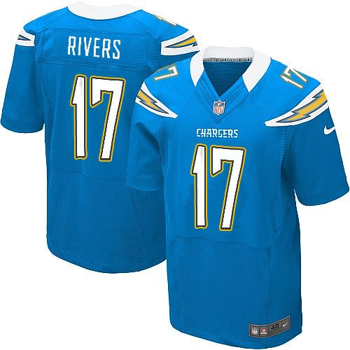 Men's Nike San Diego Chargers #17 Philip Rivers Elite Alternate Light Blue Jersey $129.99