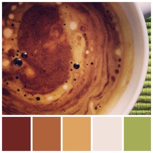 I love when instant #coffee makes these lovely shapes  #colourinspiration #mossomcolours #colourscheme #colourpalette