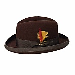 """""""The Classic Homburg"""" is a fur felt dress hat from Biltmore Hats of Canada that really is better looking than any men's hat has the right to be. Item Number: B4502"""