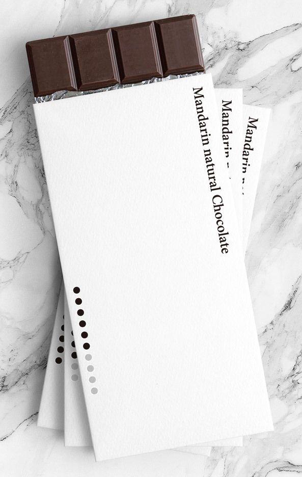 Yuta Takahashi designs minimal packaging for natural chocolate bars