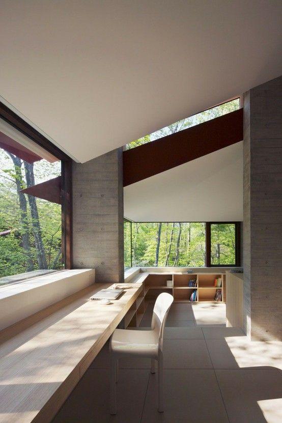 Workspace Villa-K by Cell Space Architects. Shot ByMasao Nishikawa