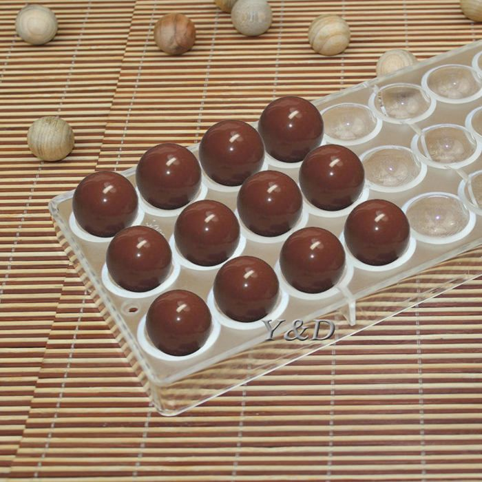 Hard Plastic Injection Semi Sphere Chocolate Mould PC Polycarbonate Chocolate Mold by MsDIYSupplies on Etsy
