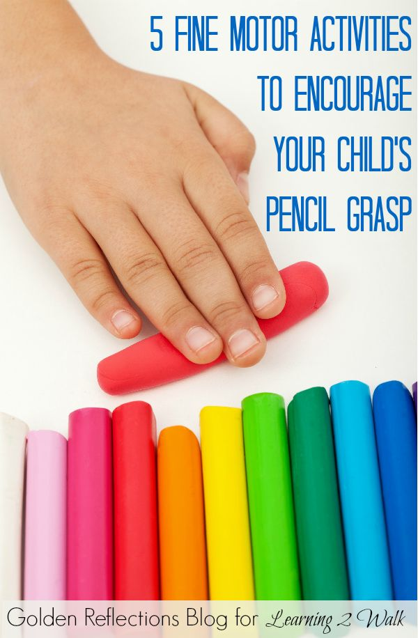 5 fine motor activities for your child's pencil grasp