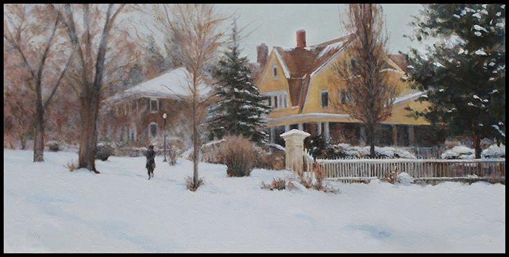 Cynthia Hillis McBride - Winter Walk- Oil - Painting entry - January 2015 | BoldBrush Painting Competition