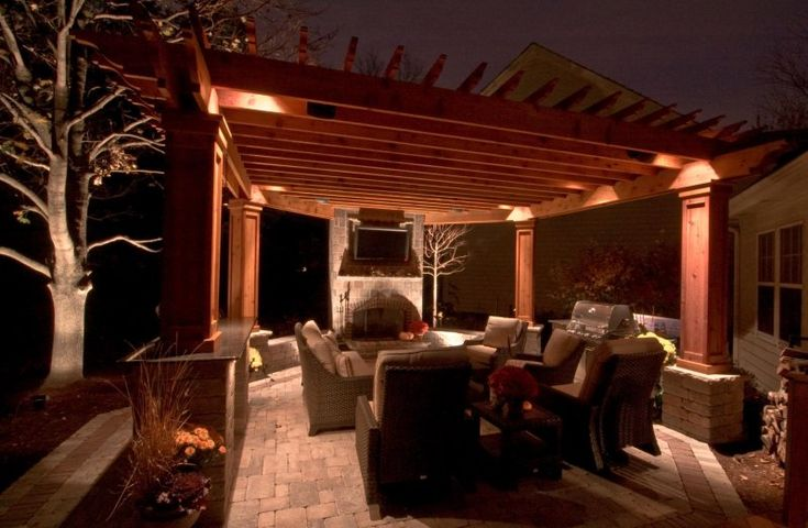 17 best images about bbq pergola ideas on pinterest for Pergola lighting ideas