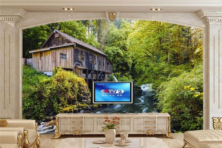 30.00$  Buy now - http://alibbj.shopchina.info/1/go.php?t=32670114718 - 3d wall murals wallpaper,Forests Rivers Washington Nature wallpapers,restaurant living room sofa tv wall bedroom papel de parede  #buymethat
