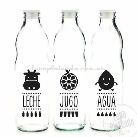 Vinilos para Botellas | Leche, jugo y agua
