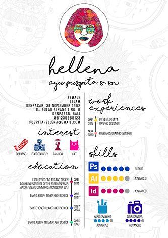 CV #CV #DESIGNGRAPHIC #EXAMPLECV #ILLUSTRATIONS #CVCUTE #CVDOODLE