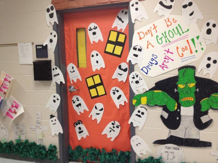Door decorating decoration decorating ideas classroom ghosts halloween