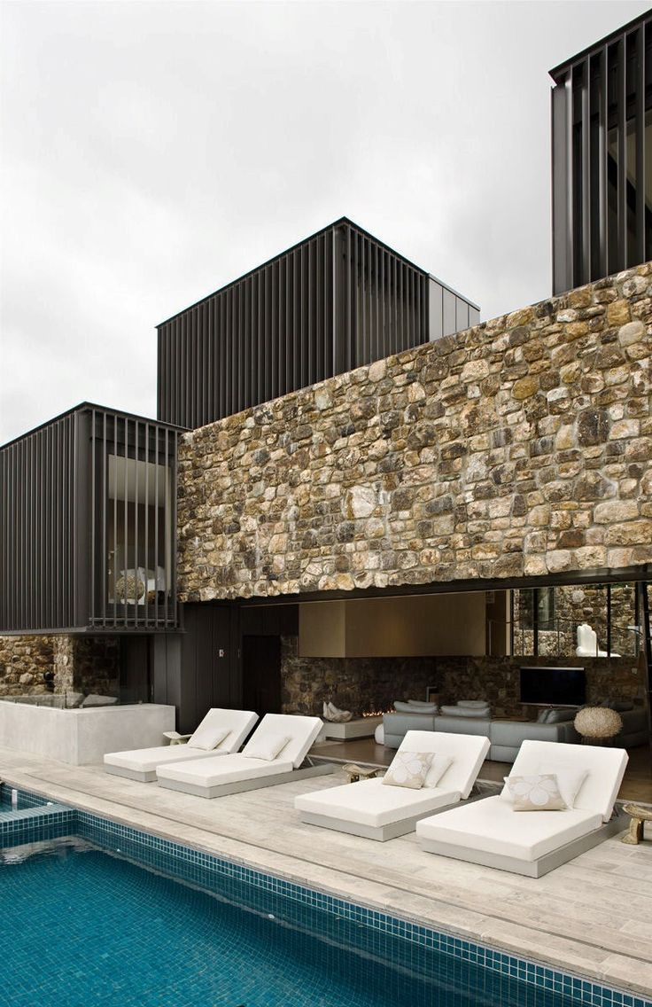 Local Rock House en Nueva Zelanda, en Waiheke Island. Patterson Associates