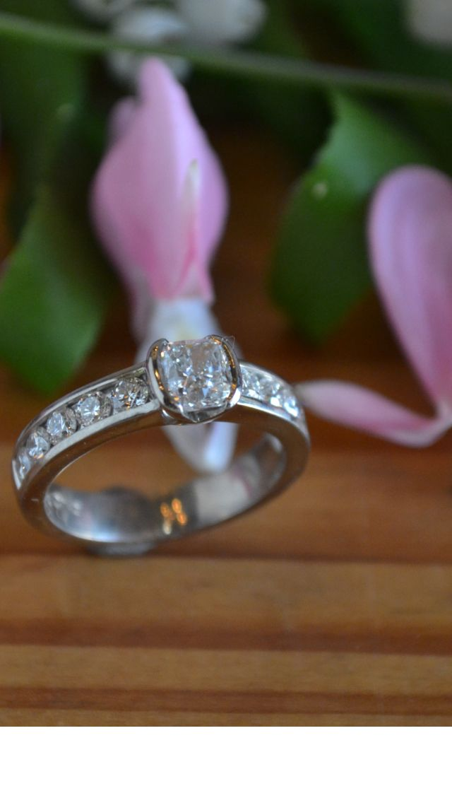 This gorgeous 1.3 ctw diamond diamond ring is and Duko Design original!