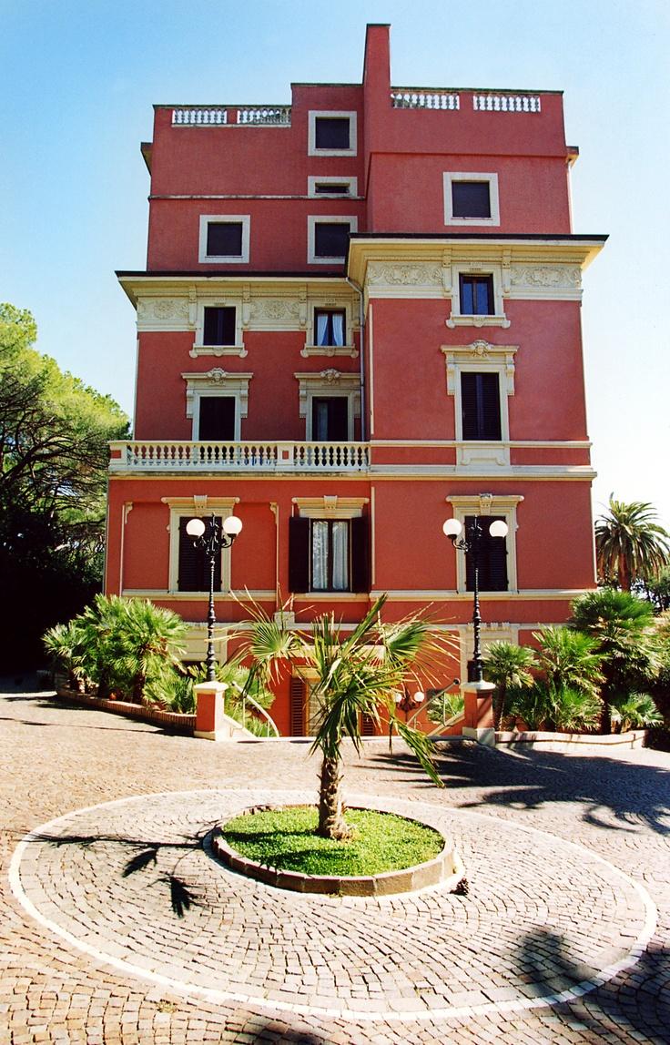 The Entrance of Miramare's Castiglioncello Italy  http://www.albergo-miramare.it