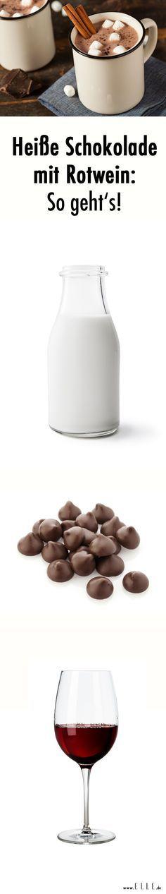 Wir haben das perfekte Getränk für kalte Tage gefunden: Heiße Schokolade mit Rotwein. Das Rezept gibt's ► auf ELLE.de!