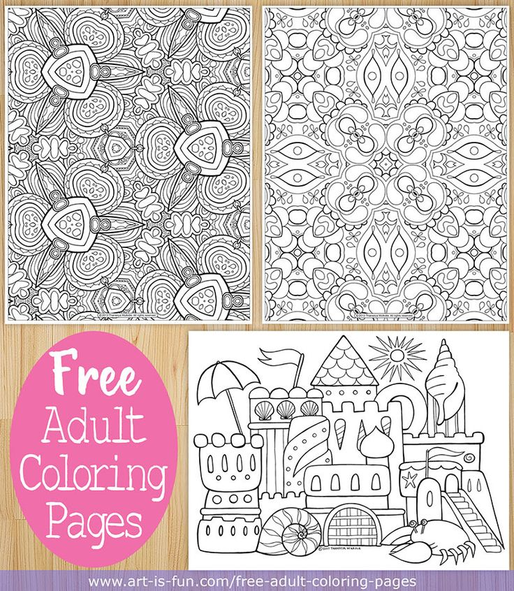 Free adult coloring pages to print and color by Thaneeya McArdle http://www.art-is-fun.com/free-adult-coloring-pages