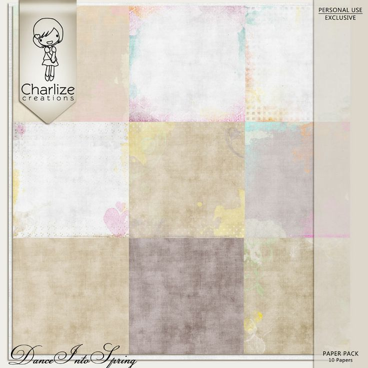 Oscraps :: Shop by Designer :: Charlize Creations :: Dance Into Spring Paper Pack