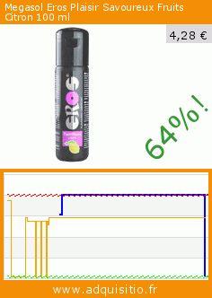 Megasol Eros Plaisir Savoureux Fruits Citron 100 ml (Beauté et hygiène). Réduction de 64%! Prix actuel 4,28 €, l'ancien prix était de 11,99 €. https://www.adquisitio.fr/eros/gel-lubrifiant-fruit%C3%A9-100