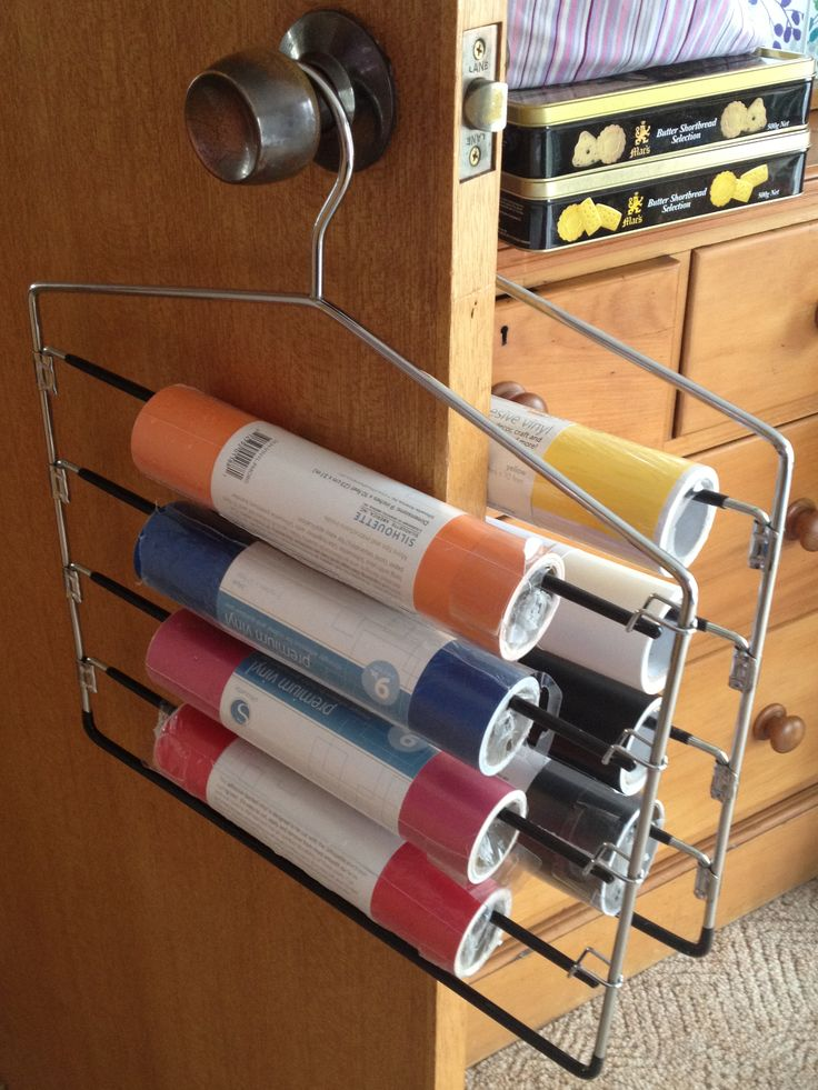 Silhouette vinyl storage. 4 tier trouser hanger from HSW, now at my house!