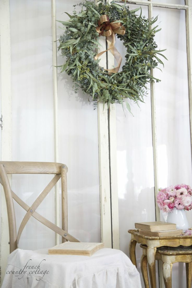 FRENCH COUNTRY COTTAGE: Fresh Eucalyptus Wreath: French Country Cottage