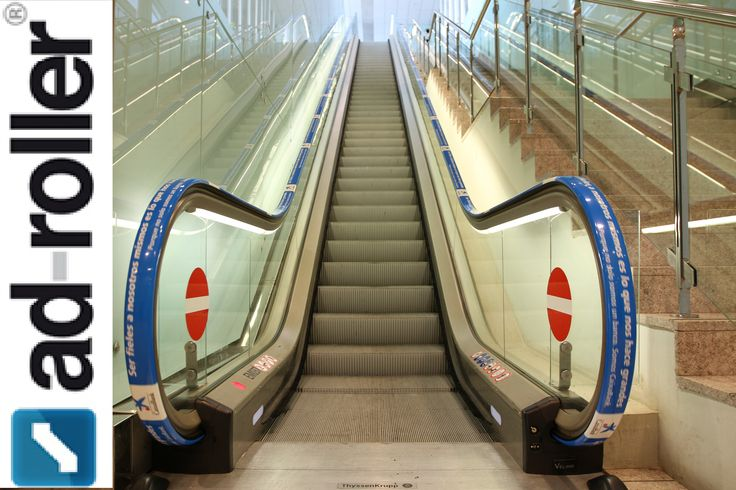 Escalator Handrail Advertising | Safty Signage | Adroller http://bit.ly/1T6d0yT Ad-Roller offers escalator handrail advertising, safty signage, escalator ads, elevator Graphics. Call for adrail and advertising on escalators. #ElevatorGraphics #EscalatorGraphics #Saftysignage