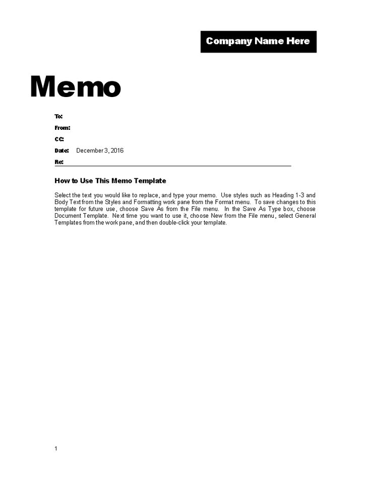 Memo Template for Company Promotion - Professional Memo Template - memo templates word