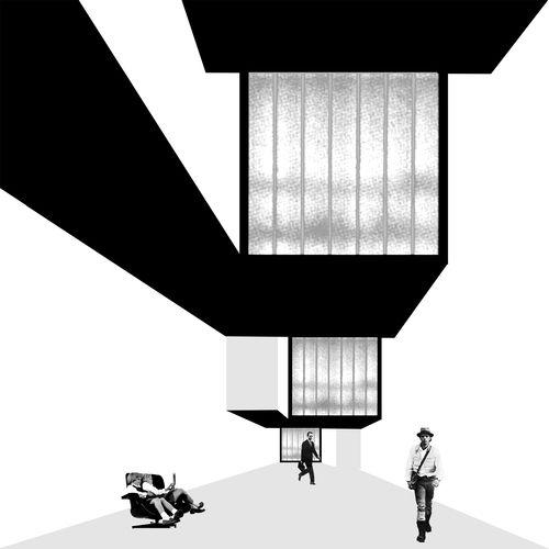 Mansilla + Tuñón Arquitectos — Acceso a la calle Artistas por la calle Don Quijote